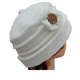 CHAPEAU en Velours doublé Polaire avec joli bouton bois