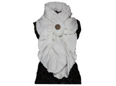 ECHARPE FEMME en VELOURS et POLAIRE Minky - Coloris blanc chantilly